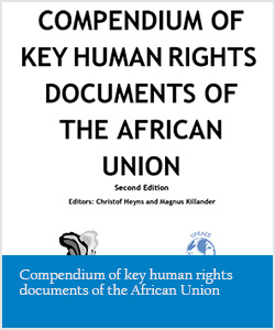 Compendium of key human rights documents of the African Union