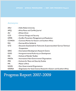 Progress Report 2007-2009